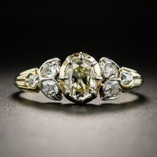 Antique .50 Carat Diamond Engagement Ring  - 1