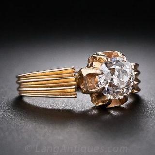 Antique .85 Carat Cushion-Cut Diamond Solitaire