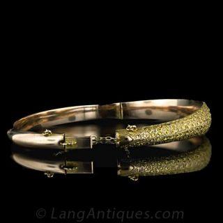 Antique 9 Karat Gold Bangle Bracelet