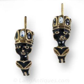Antique Blackamoor Earrings