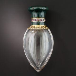 Antique Bloodstone Ruby Diamond Bottle - 1
