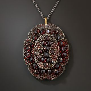 Antique Bohemian Garnet Pendant - 4