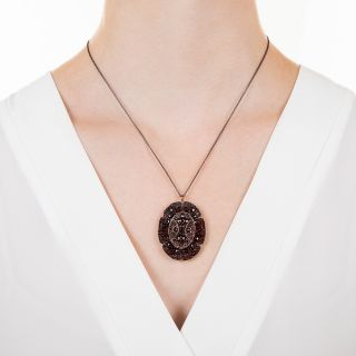Antique Bohemian Garnet Pendant