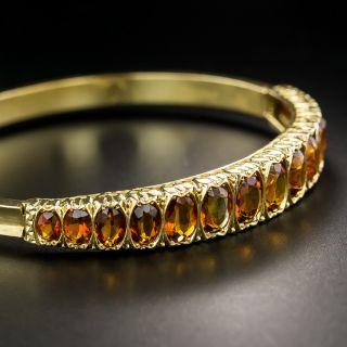 Antique Citrine Bangle Bracelet - 2