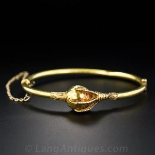 Antique Claw and Orb Bracelet