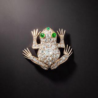 Antique Diamond and Demantoid Frog Brooch, Circa 1900 - 1