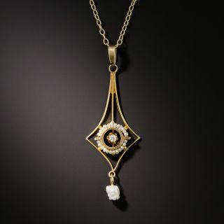 Antique Diamond and Pearl Pendant, Circa 1900 - 2