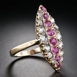 Antique Diamond and Ruby Dinner Ring