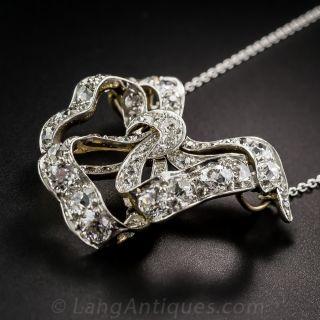 Antique Diamond Bow Necklace c.1900