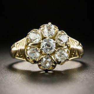 Antique Diamond Cluster Ring  - 1