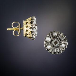 Antique Diamond Cluster Stud Earrings