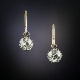Antique Diamond Dangle Earrings - 2