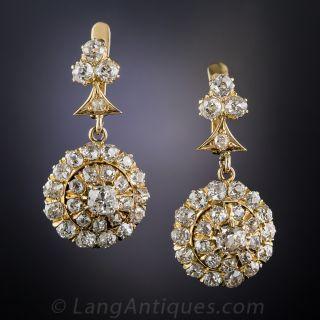 Antique Diamond Dangle Earrings - 1