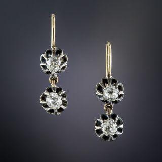 Antique Diamond Double Drop Earrings