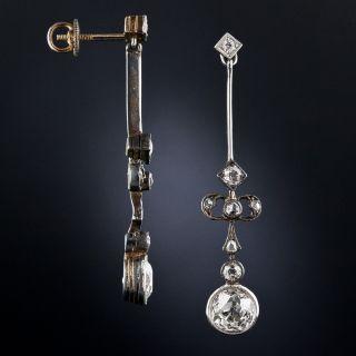 Late-Victorian Diamond Drop Earrings