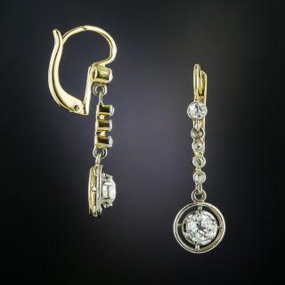 Antique Diamond Drop Earrings, Circa 1900 - 2