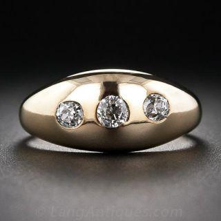 Antique Diamond Three-Stone Ring