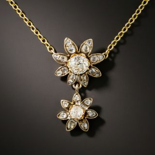 Antique Double Diamond Daisy Drop - 1