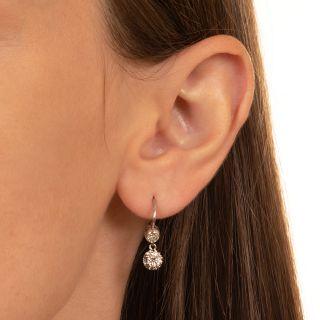 Antique Double Diamond Dangle Earrings