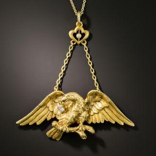 Antique Eagle Pendant Necklace - 2