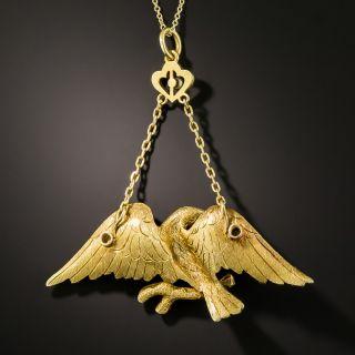 Antique Eagle Pendant Necklace