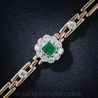 Antique Emerald and Diamond Bracelet - 1