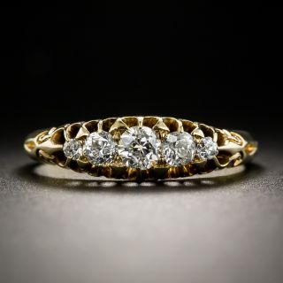 Antique English Five-Stone Diamond Ring - 2