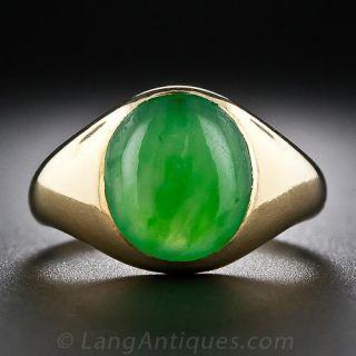 Antique English Jade Ring