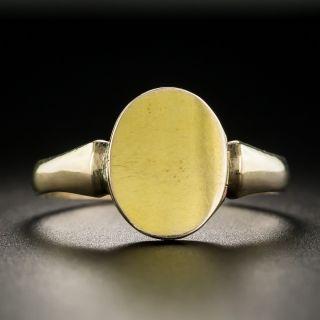 Anitque English Signet Locket Ring - 2