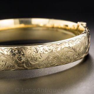 Antique Engraved Bangle Bracelet