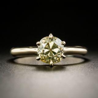 Antique Fancy Color 1.51 Carat Cushion-Cut Diamond Solitaire Engagement Ring - GIA - 1