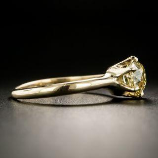 Antique Fancy Color 1.51 Carat Cushion-Cut Diamond Solitaire Engagement Ring - GIA