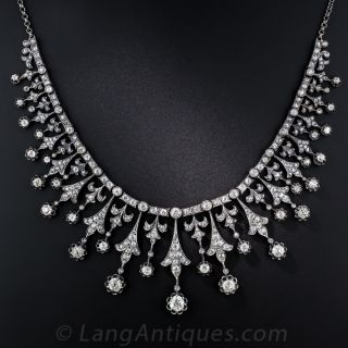 Antique French Diamond Necklace - 3