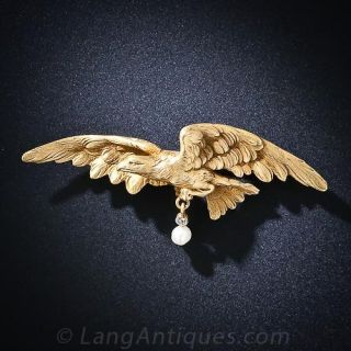 Antique French Eagle Brooch