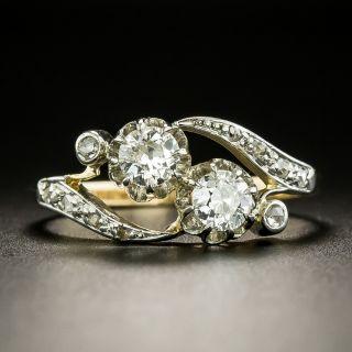 Antique French Moi et Toi Diamond Bypass Ring - 2