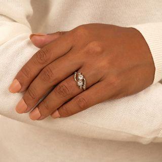 Antique French Moi et Toi Diamond Bypass Ring