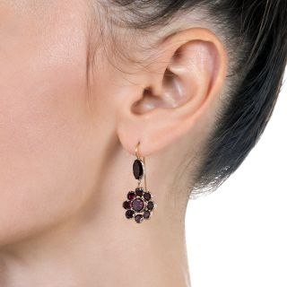 Antique Garnet Drop Earrings