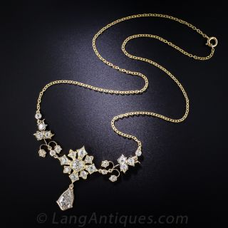 Antique Gold and Diamond Necklace