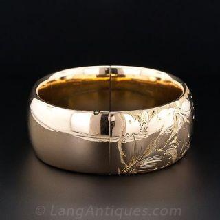 Antique Gold-Filled Bangle Bracelet