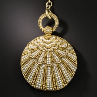 Antique Granulation and Seed Pearl Decorated Pocket/Pendant Watch - 1