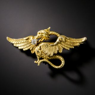 Antique Griffen Pin by Link and Angell, Circa 1900 - 2