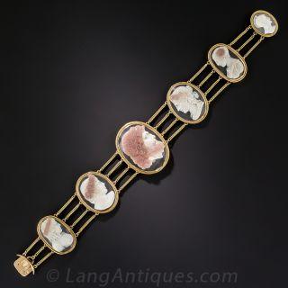 Antique Hard Stone Cameo Bracelet - 1