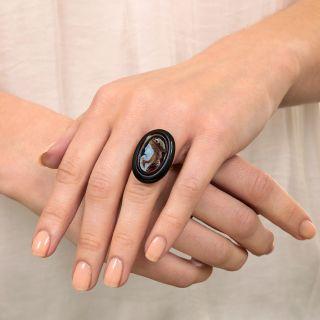 Antique Hardstone Cameo Ring
