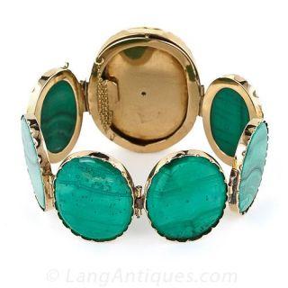 Antique Malachite Bracelet