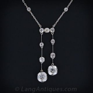 Antique Negligee Diamond Necklace