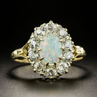 Antique Opal and Diamond Ring - 3