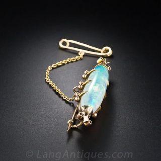 Antique Opal Bar Pin