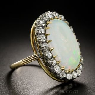 Antique Opal Diamond Cocktail Ring