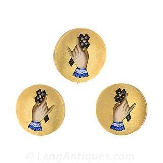 Victorian Enameled Gold Earrings