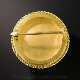 Antique Reverse Crystal Dog Pin